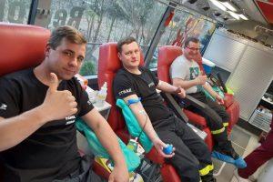 Zdjęcie z oddawania krwi