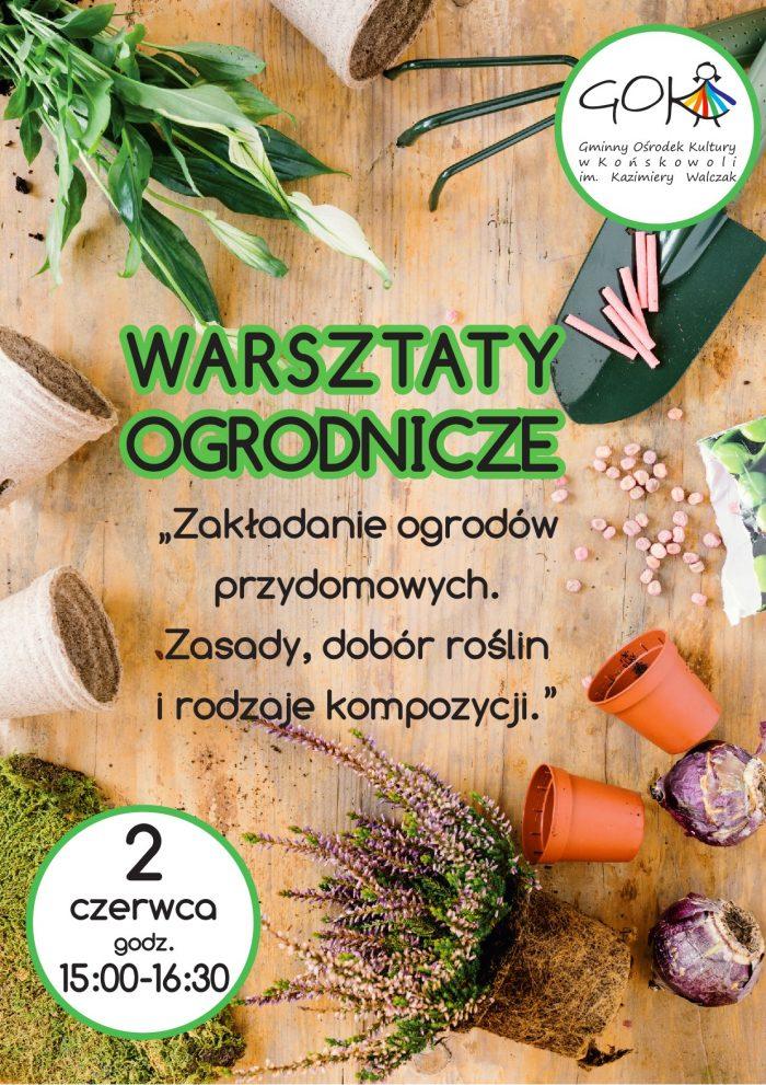 Plakat - warsztaty ogrodnicze