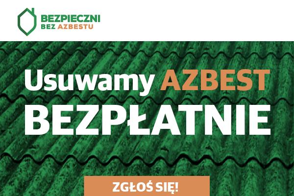 Baner usuwamy azbest bezpłatnie