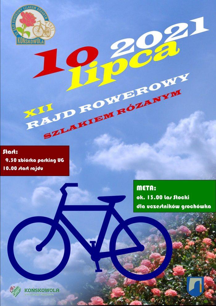 Plakat Rajdu Rowerowego 2021 z okazji Święta Róż